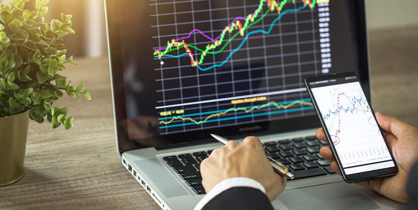 Online trading illustration